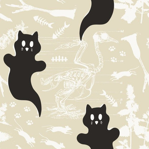 LARGE - Ghost Cats - neutral