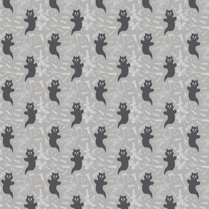 SMALL - Ghost Cats - grayscale