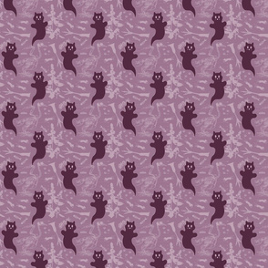 SMALL - Ghost Cats - purple