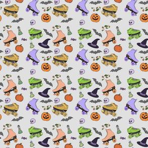 Halloween Roller Skates