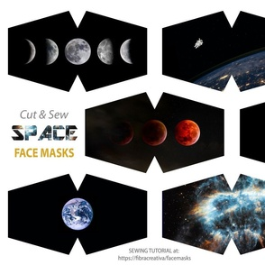 Out in Space face mask cut outs