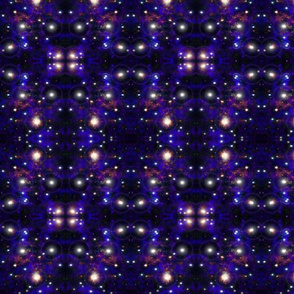 Blue Orange Kaleidoscope Galaxy