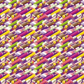Isometric icecream - purple - eight