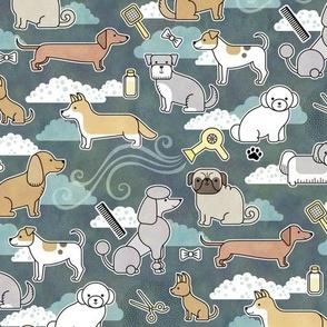 Dog Groomer- Rescue Dogs- Essential Workers- Dog Walker- Masks- Small Scale- Dachshund- Doxie- Chihuahua- Poodle- Pug- Schnauzer- Spaniel- Bichon- Corgi- Spaniel- Terrier