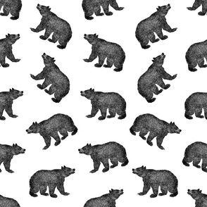 Illustrated Antique Bears (Large Scale)
