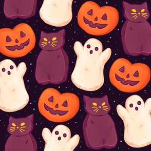Halloween Marshmallows Dark Jumbo Large...