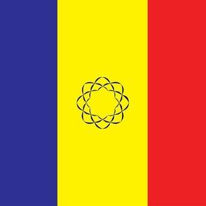 Chad/Romania Flag