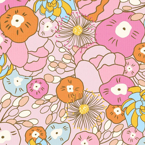 1970s floral/large