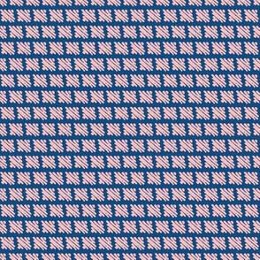 pink bricks on navy blue by rysunki_malunki