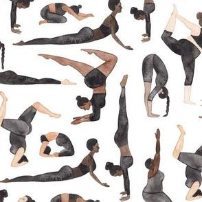 Yoga lovers pattern