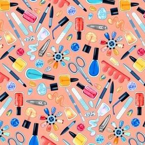 Shimmery Fingernail Equipment - Blush - Small Scale