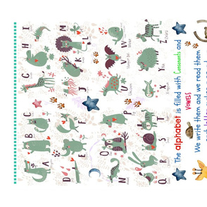 ABC Linen FQ Tea Towel