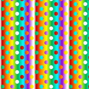 Grande chakra colour gradient dots