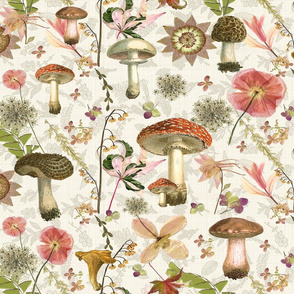 mushroom garden jumbo w linen