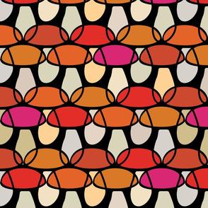 Tones of Red Porcini Mushrooms