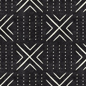 (small scale) mud cloth tile - onyx - mud cloth inspired home decor wallpaper - LAD19BS