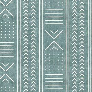 (small scale) dusty blue mud cloth - arrow cross dot - mudcloth home decor tribal - LAD19BS