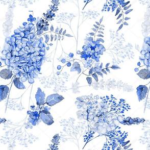 Botanical Blue Chinoiserie
