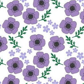 Lilac vintage style poppies (small)