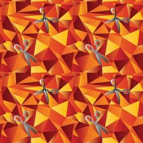 scissor mosaic triangles