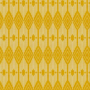 West End - Goldenrod Yellow and Cream Small Scale