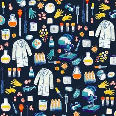 tools of the trade - virology science - dark