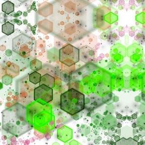 Melon Hexagon Mirror