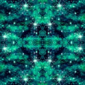 Malachite Galaxy Mirror