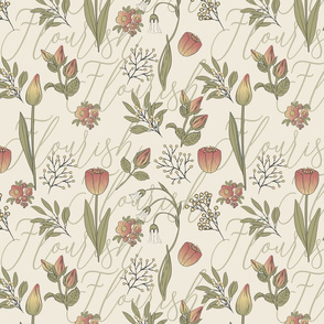 Bell Nora tulips florish pattern