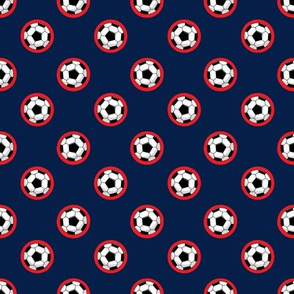 Soccer ball (Navy and Red)