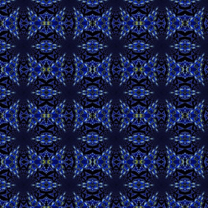fractal points illusion in blue