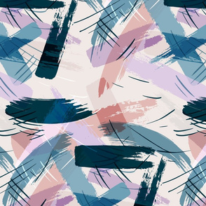 Large Abstract Brush Strokes-LILAC