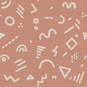Star Field over Life Symbols medium
