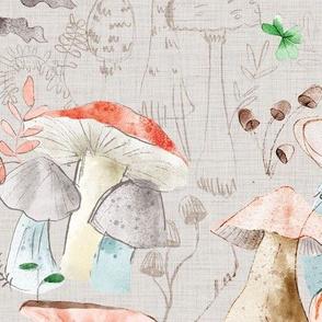 Mushroom Sketchbook - large