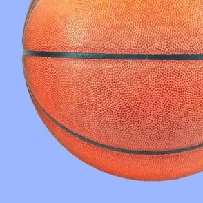"10"" basketballs on baby blue"