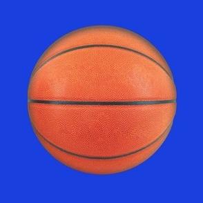 """6"""" basketball on royal blue"""