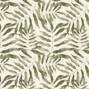 Bella Nora watercolour leaf pattern