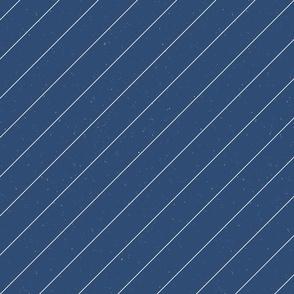 Retro Modern Diagonal Stripe M+M Navy Blue by Friztin