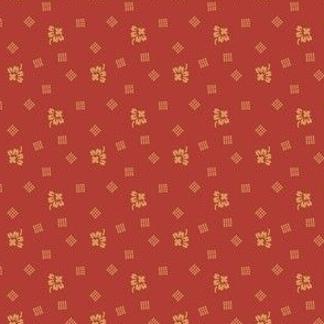 1880 bud with dotted grid red 2045-24