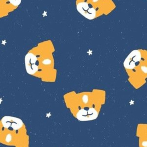 Star Mutts M+M Navy Blue Small by Friztin