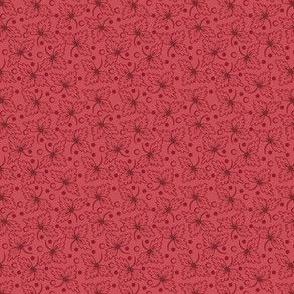 Tossed Leaf Pink 2028-19