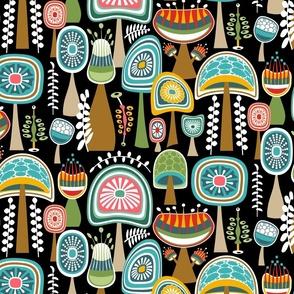Colorful Retro Shrooms