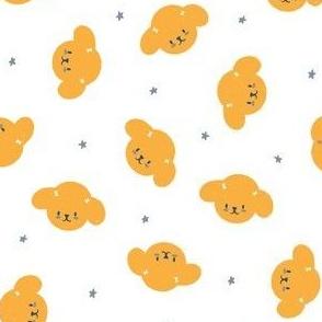 Star Poodles M+M White Honey Mini by Friztin
