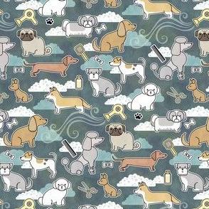 Dog Groomer Dark Mini- Small Scale Dogs- Pet Shop Face Mask- Corgi- Chihuahua- Poodle- Bichon- Pug- Dachshund
