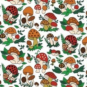 Retro 70s Mushrooms