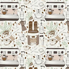 Coffeehouse - barista 1,big pattern