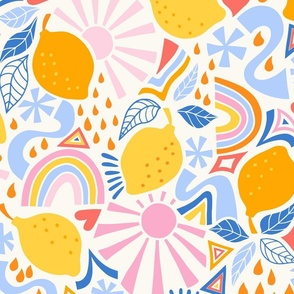 fun lemons/yellow/large