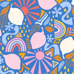 fun lemons/blue/large