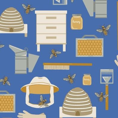 Beekeeping Tools of the Trade for Spoonflower