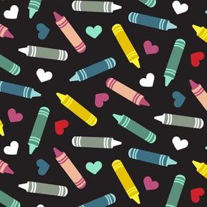COVID Crayons and Hearts - Medium